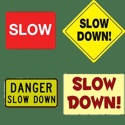 Signos de ralentización