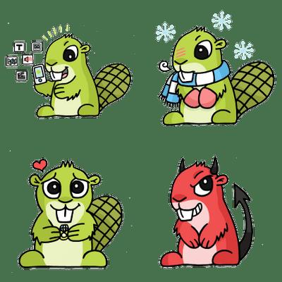 Adsy Beaver Mascot