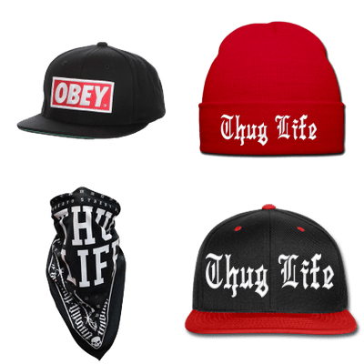 Thug Life Hats and Bandanas
