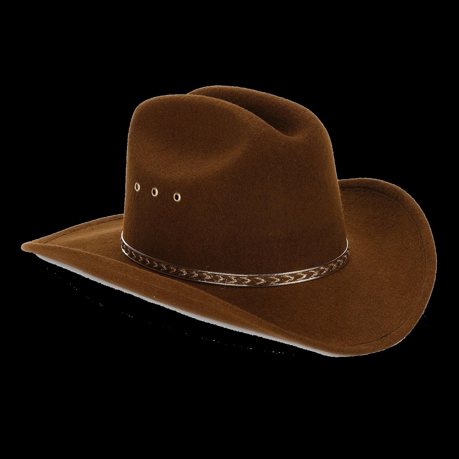 suave y ligero gran ajuste moda más deseable Sombrero de Vaquero de Fieltro Marrón PNG transparente ...