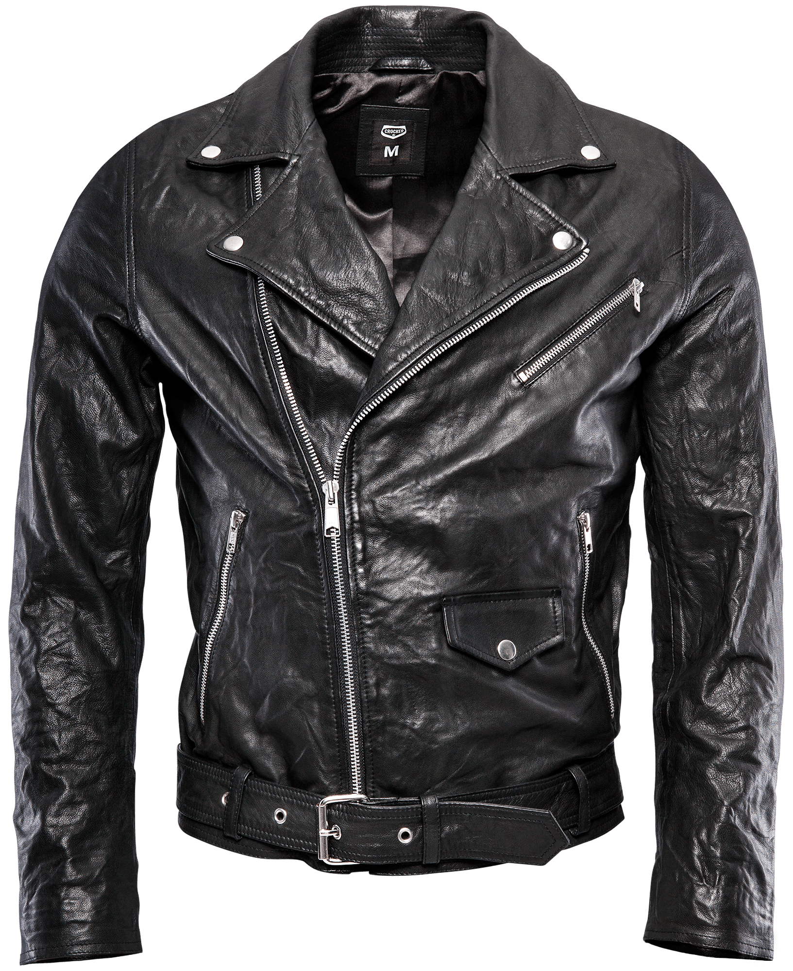 Worn in leather jacket