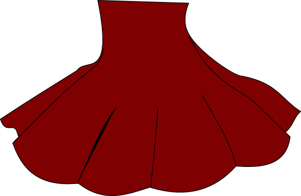 Skirt Red Clipart transparent PNG