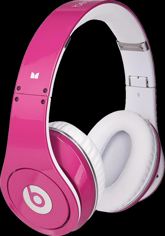 Pink Beat Headphones Transparent Png Stickpng