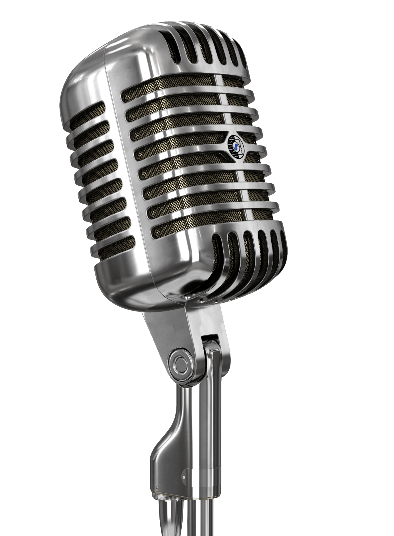 Vintage Microphone and Stand transparent PNG , StickPNG