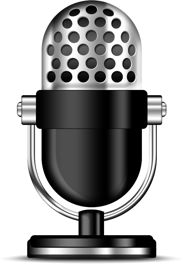 Podcast clipart microphone transparent png stickpng - Bulgomme transparent pour table ...