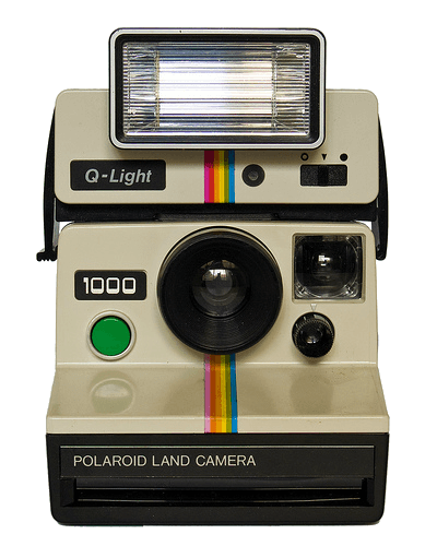Vintage Polaroid Camera Transparent PNG