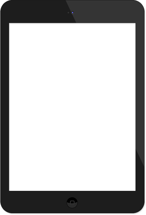 empty ipad tablet transparent png