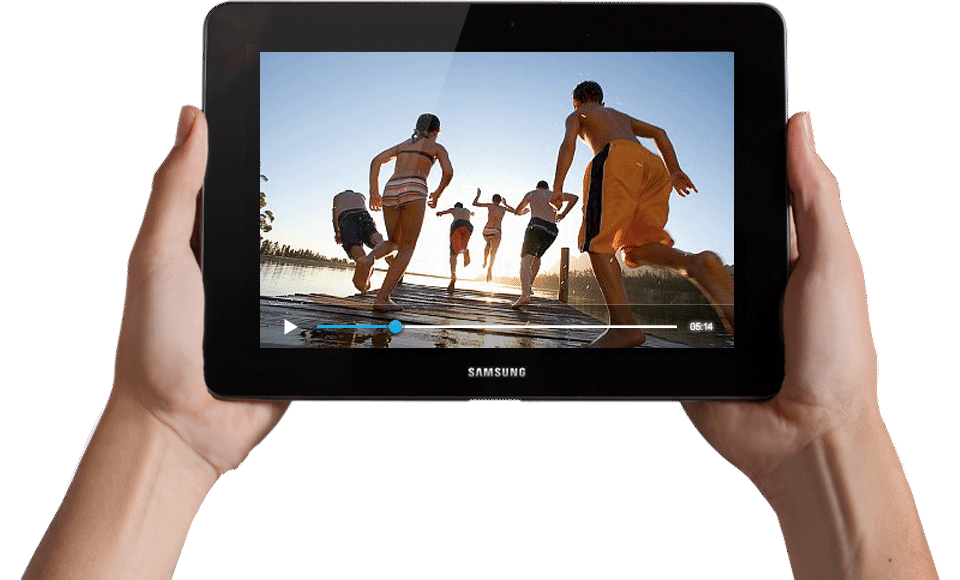 two hands holding samsung tablet transparent png