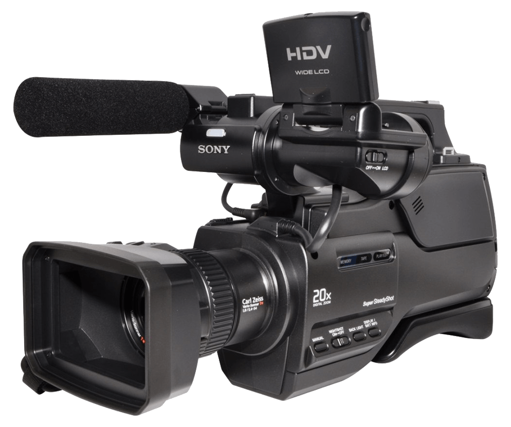 hdv sony video camera transparent png stickpng