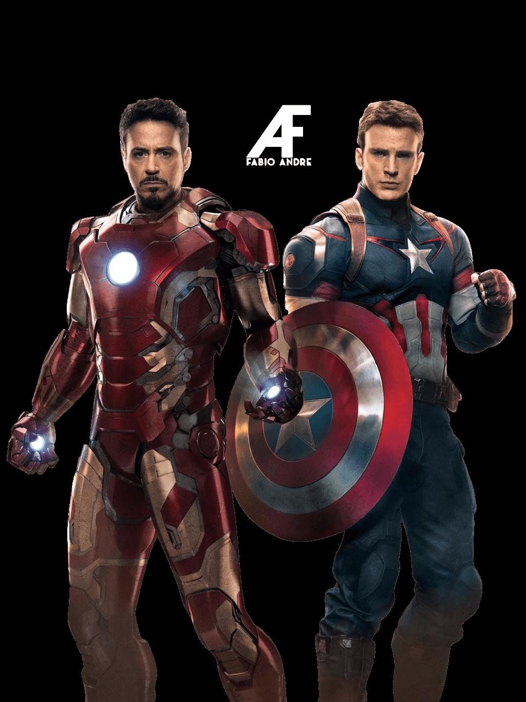 avengers ironman captain america transparent png stickpng