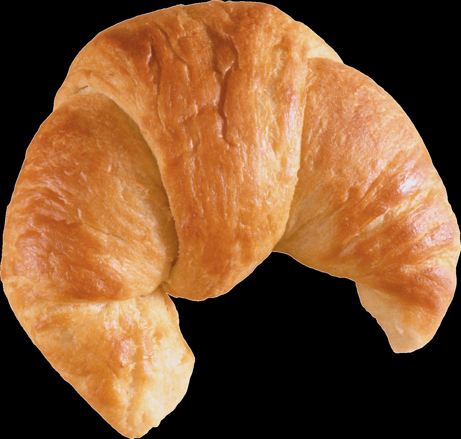 Croissant Bread Front Transparent PNG