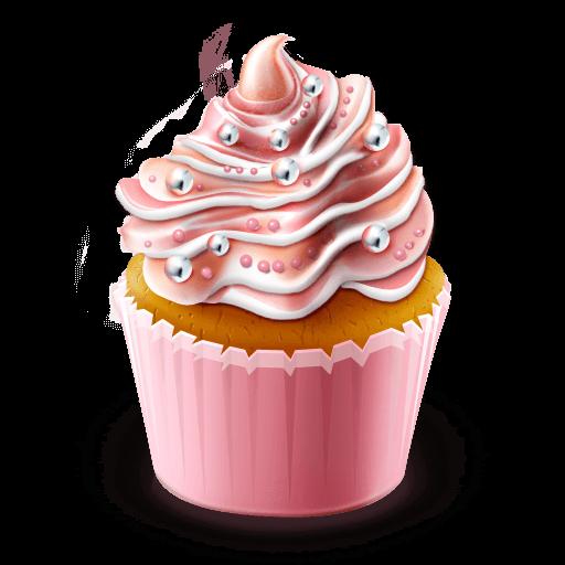 Cupcake transparent. Illustration png stickpng