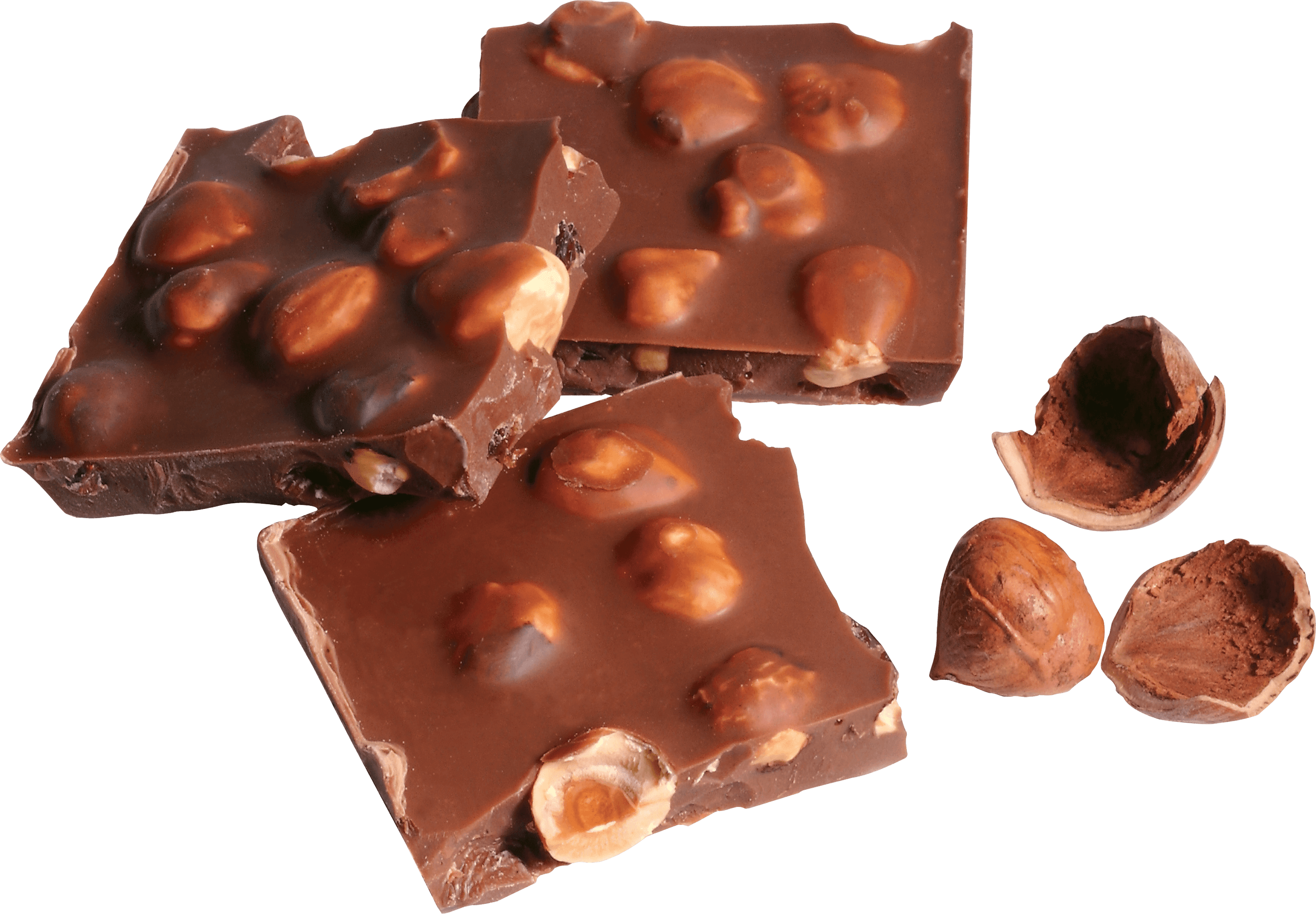 Chunks Nuts Chocolate transparent PNG - StickPNG