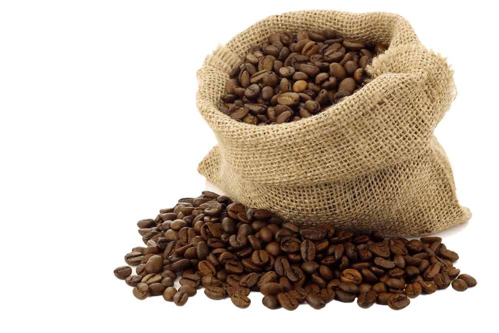 Coffee Beans Bag Open transparent PNG - StickPNG