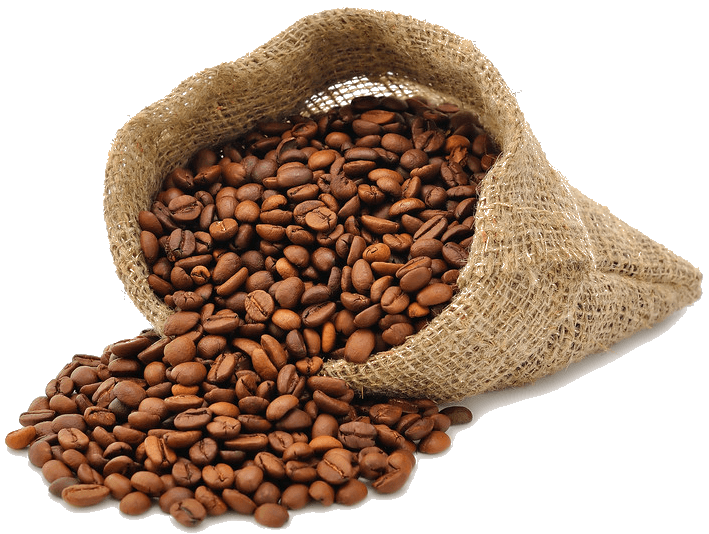 Coffee Beans Bag Side Open transparent PNG - StickPNG