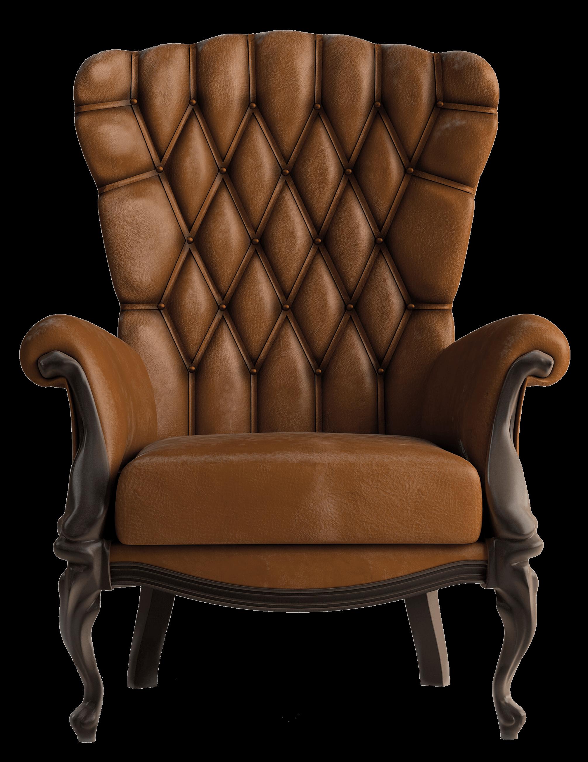 Armchair Vintage Brown transparent PNG StickPNG