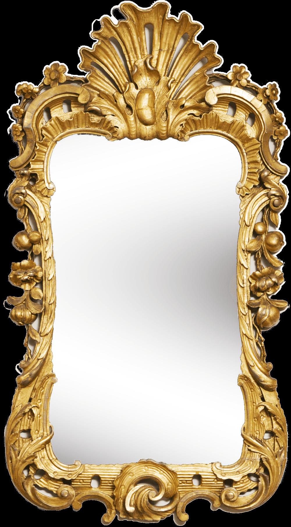 Mirror Gold Frame Transparent Png Stickpng