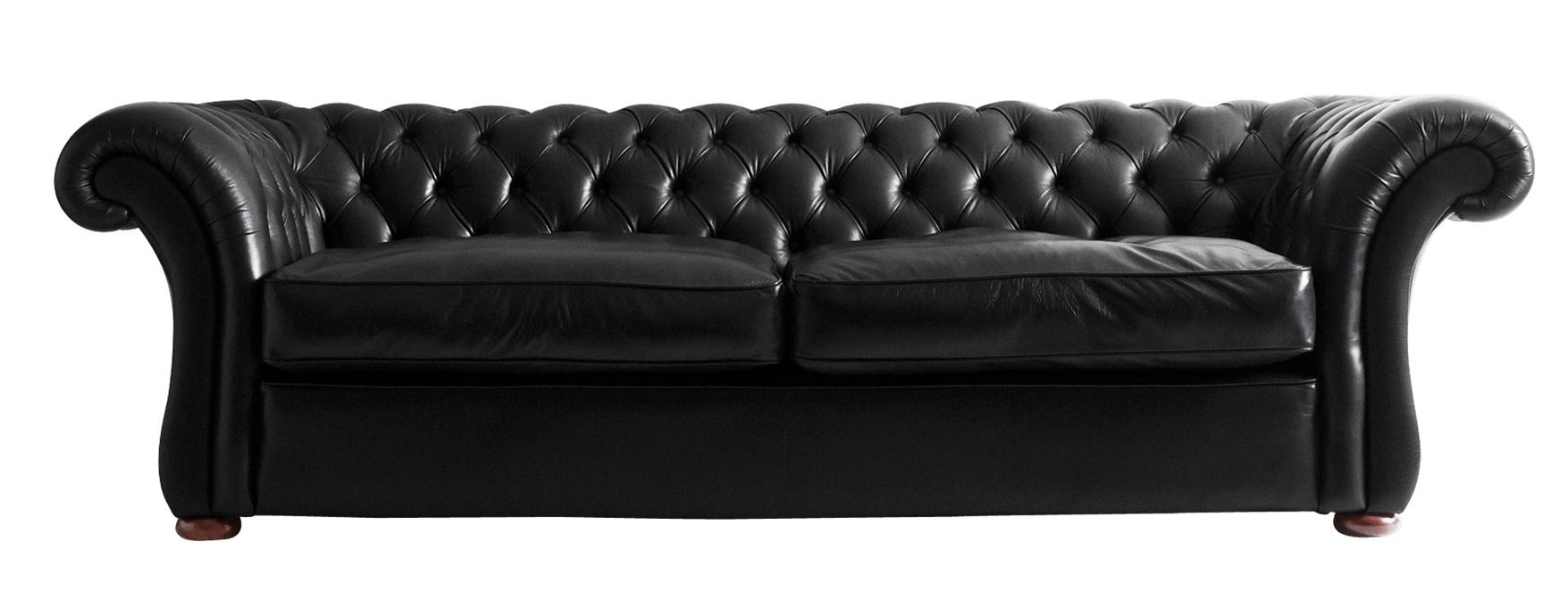 Black Leather Sofa transparent PNG - StickPNG