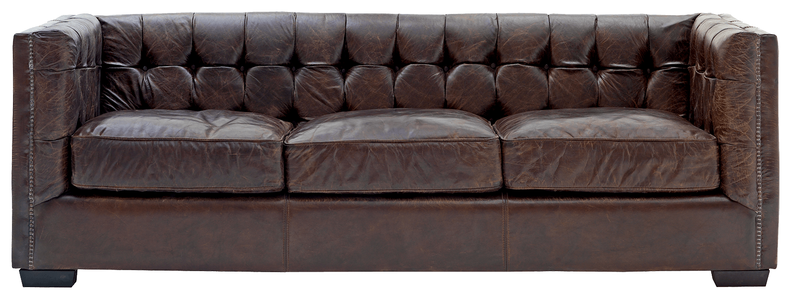 Leather Sofa Transparent PNG