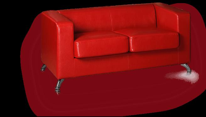 Red Sofa transparent PNG - StickPNG