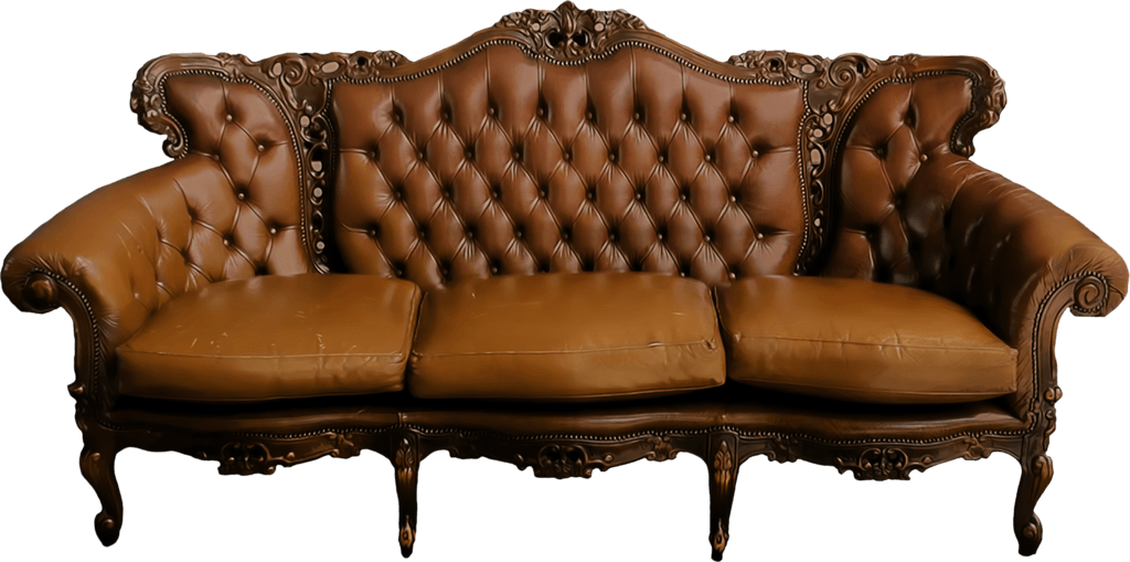 Large Vintage Sofa Transparent Png Stickpng