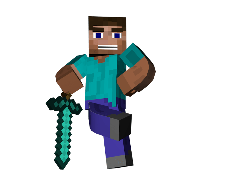 Man Sword Minecraft Transparent Png Stickpng