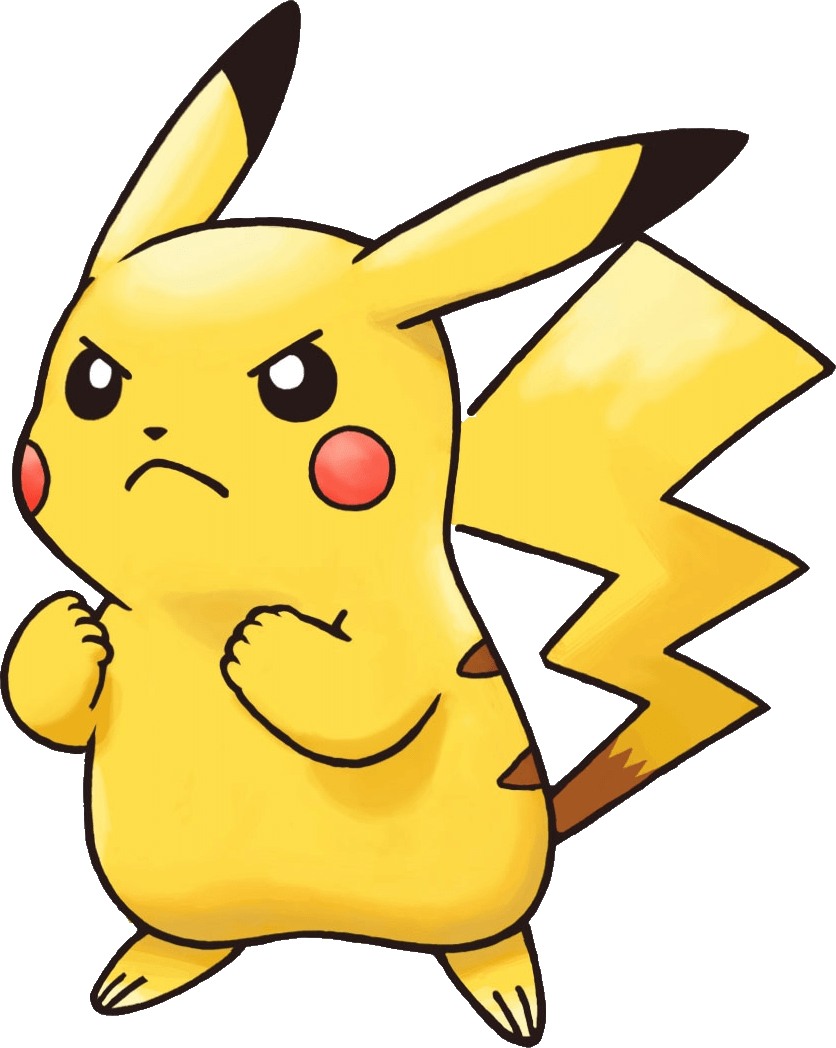 Angry Pikachu Pokemon Transparent Png Stickpng