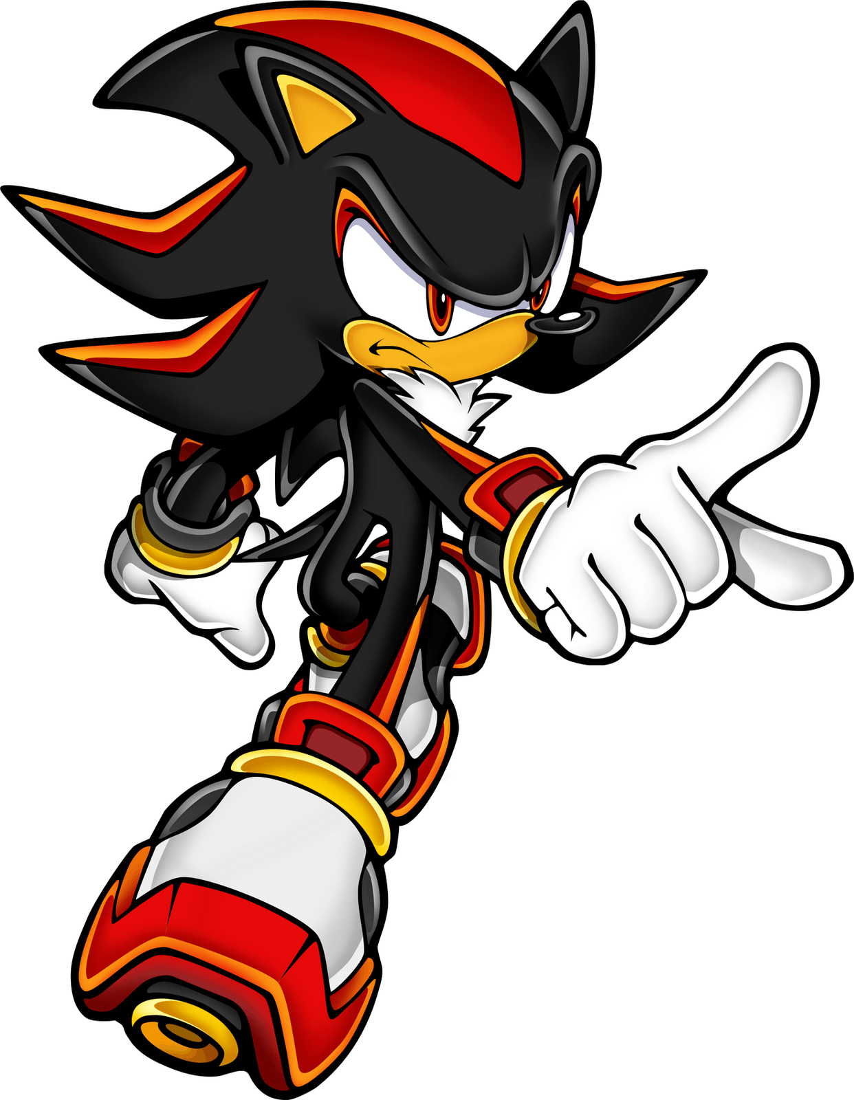 Sonic Hedgehog Red White Transparent Png Stickpng
