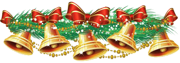 Christmas bells transparent png stickpng