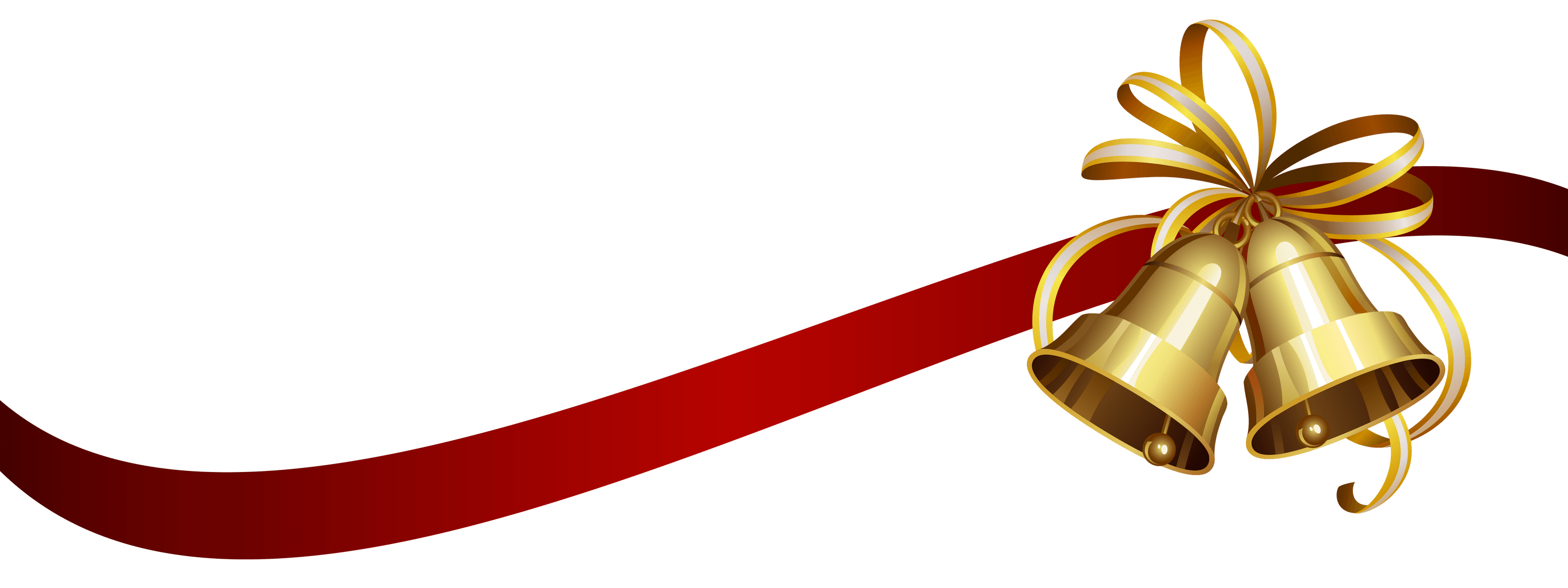 Png Christmas.Christmas Ribbon And Bells Transparent Png Stickpng
