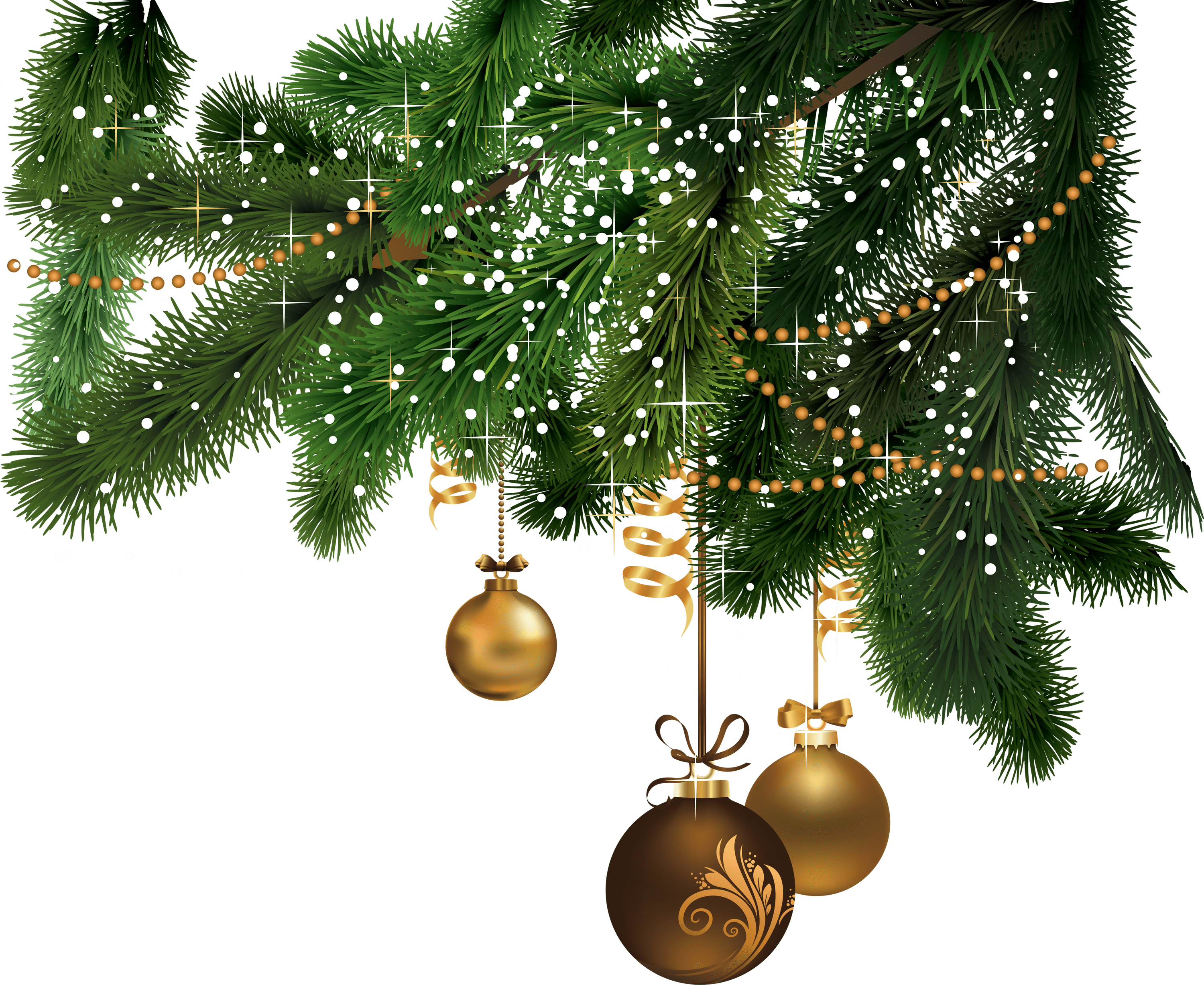 Christmas right corner transparent png stickpng