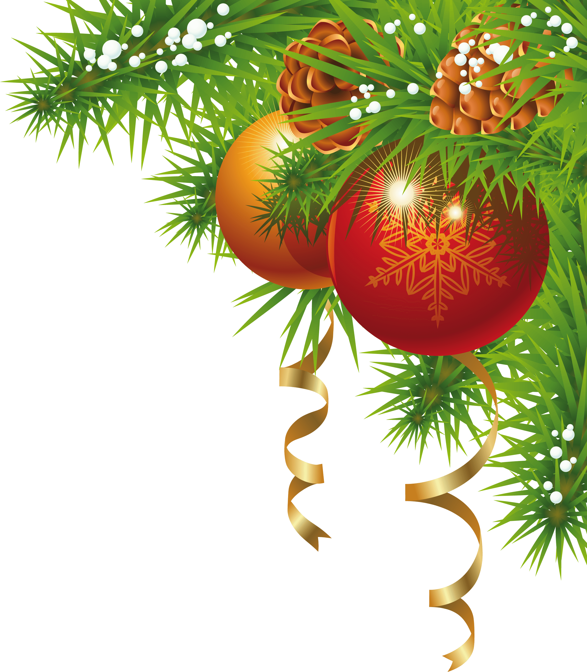 Christmas small corner transparent png stickpng