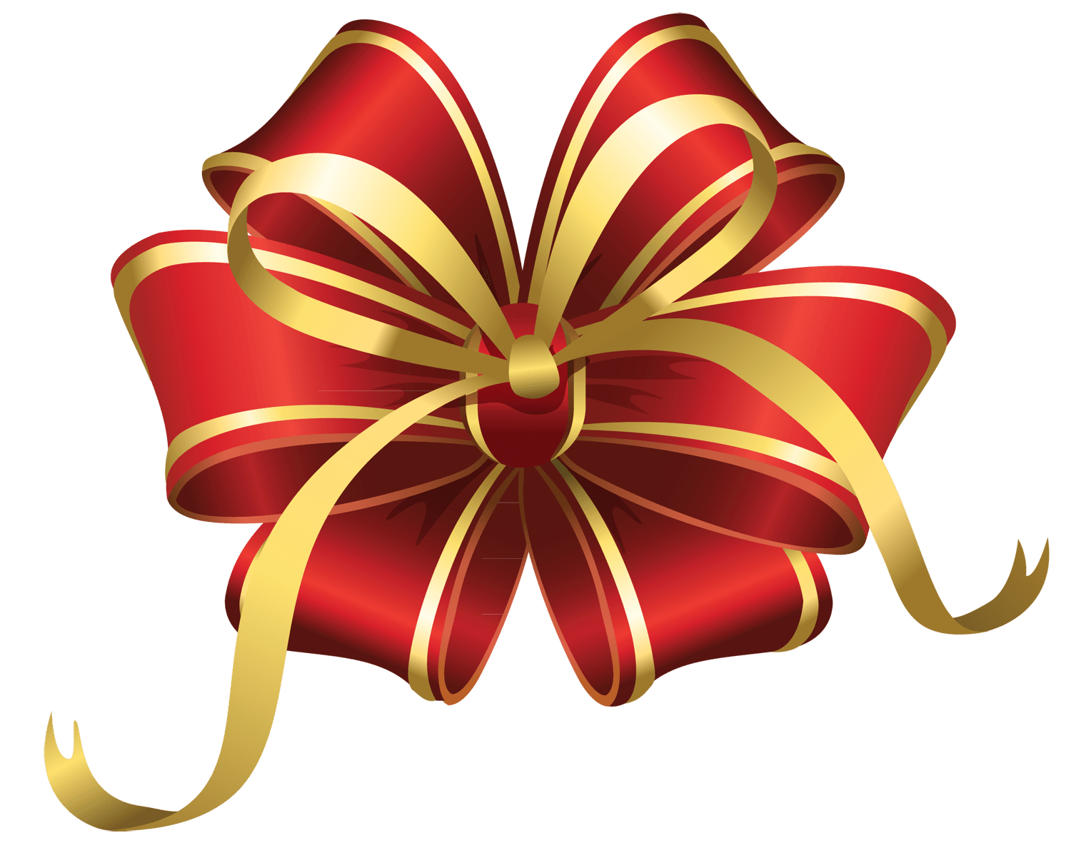 Christmas Star Ribbon Transparent PNG