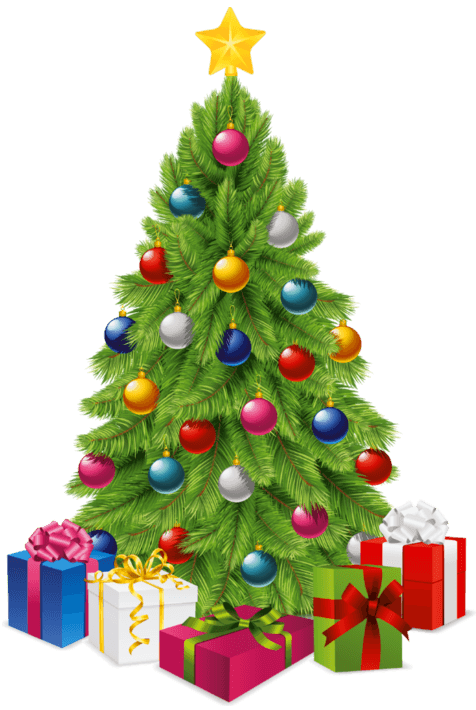 Christmas Tree Transparent Background.Christmas Tree Gifts Transparent Png Stickpng
