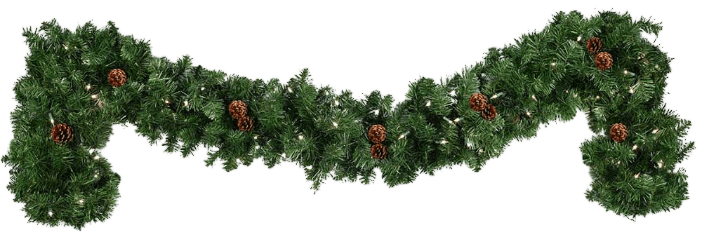 garland christmas transparent png stickpng