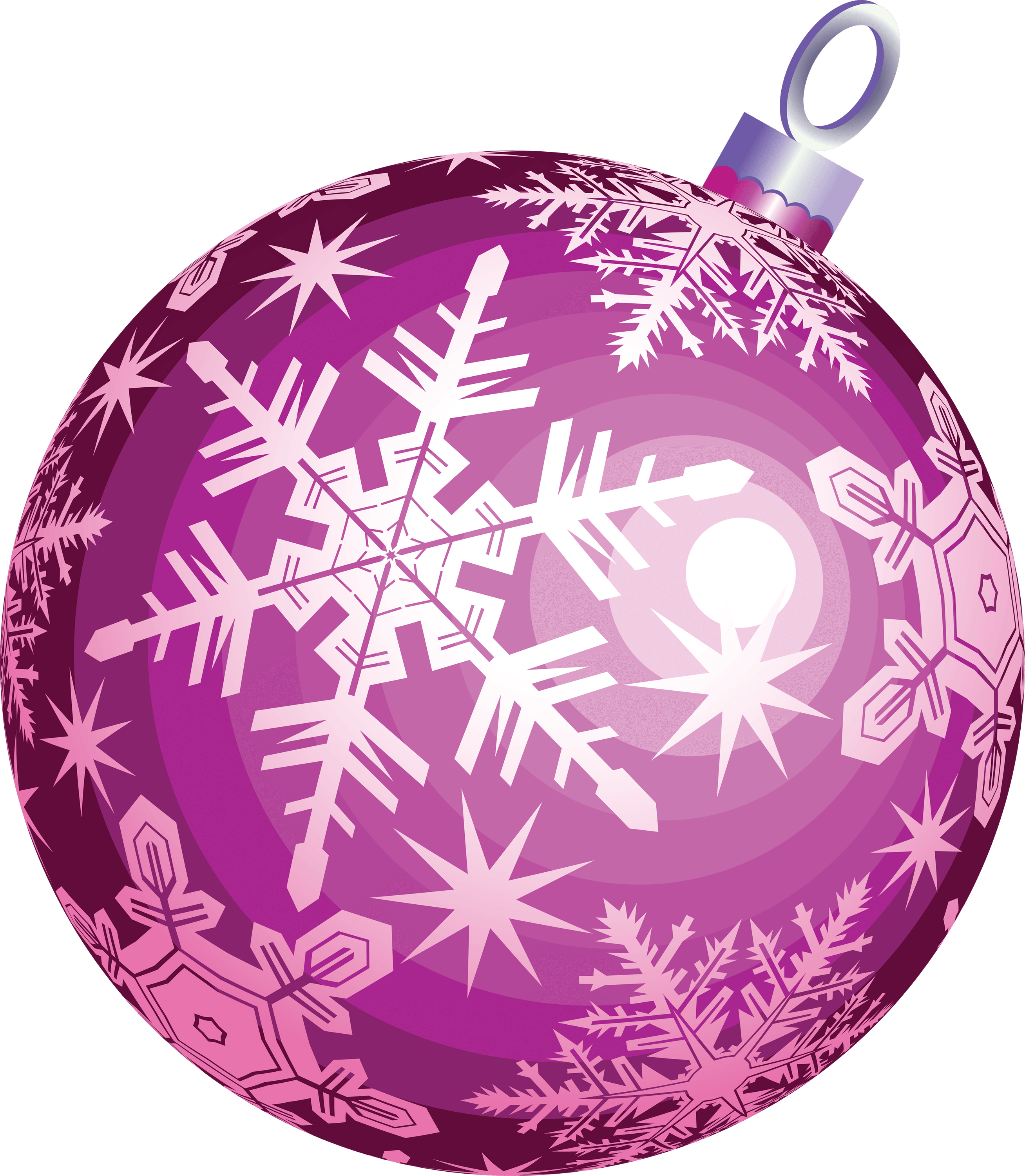 Purple Ball Christmas Transparent PNG