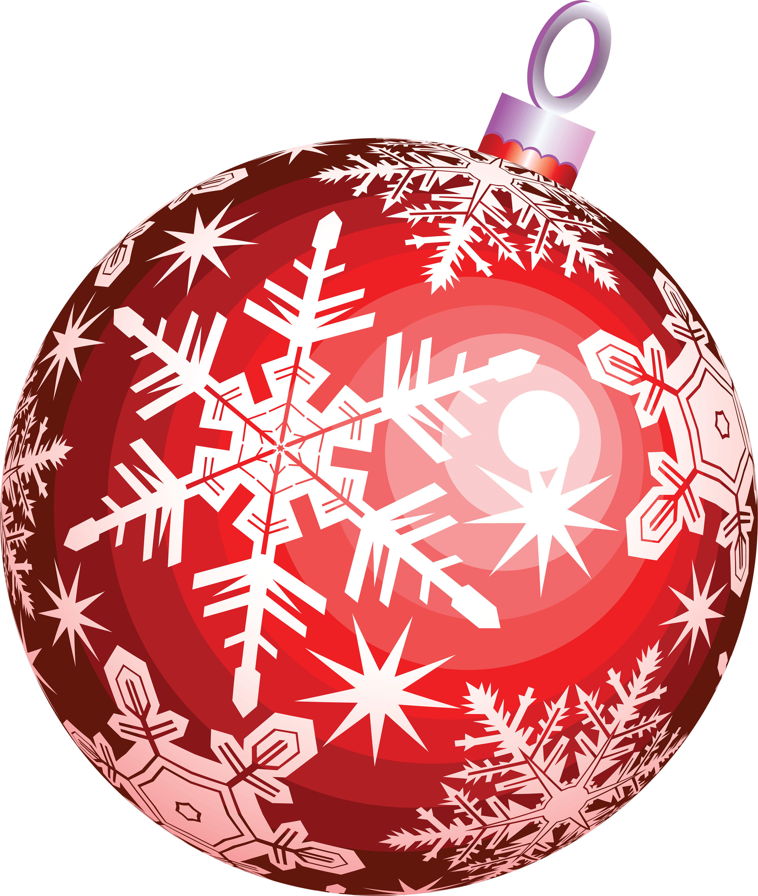 Red ball christmas transparent png stickpng