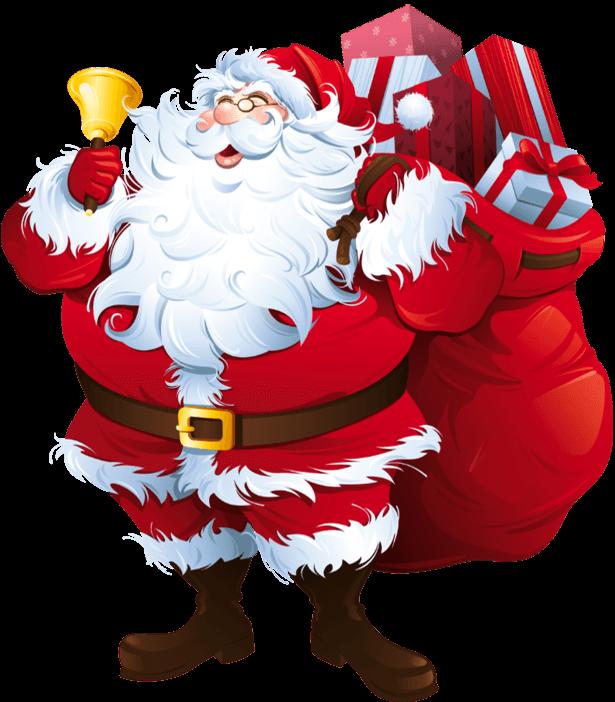 Père Noël Et Le Renne Drôle Sur Fond Blanc. Clip Art Libres De Droits ,  Vecteurs Et Illustration. Image 49066237.