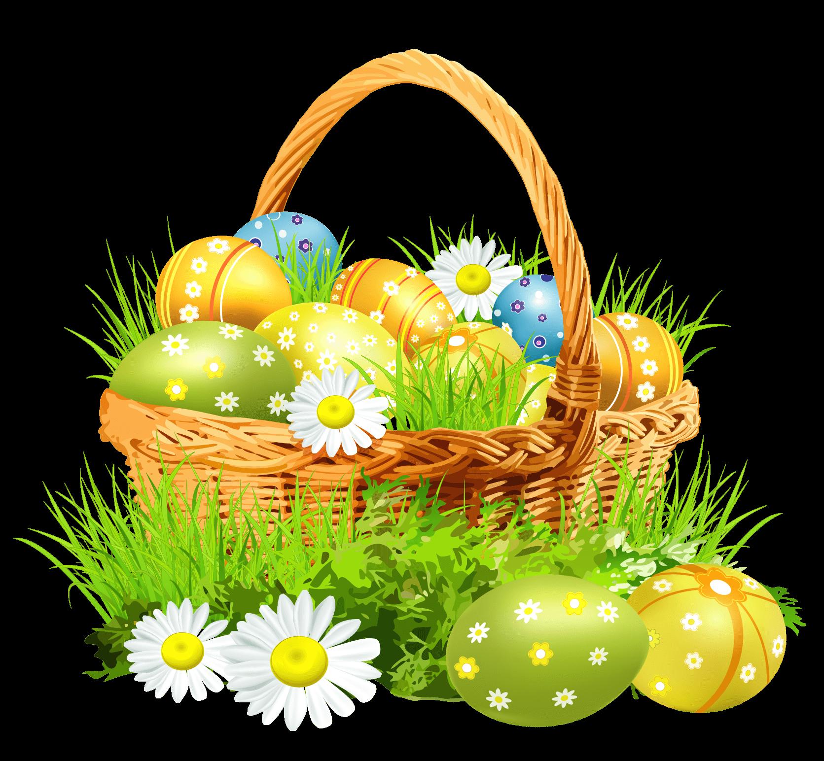 Easter Basket Flowers Transparent Png Stickpng
