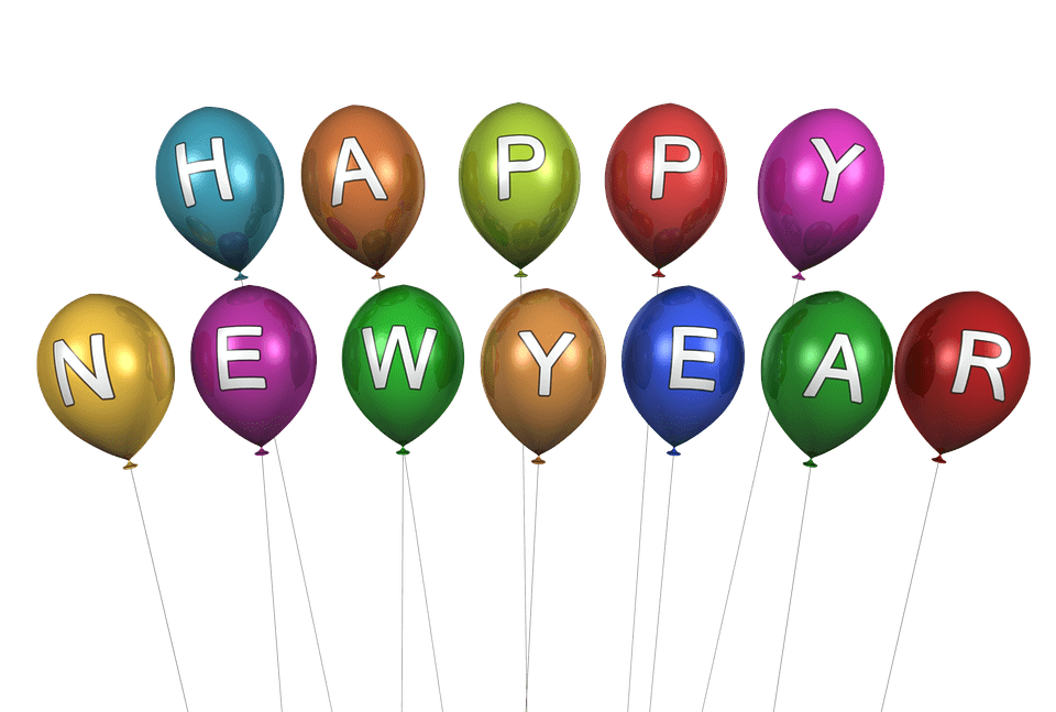happy new year balloons transparent png stickpng