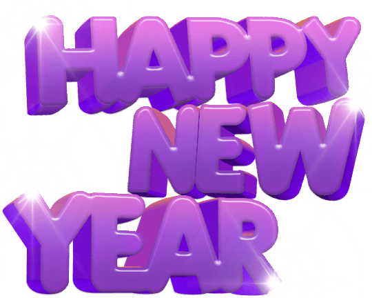 happy new year purple