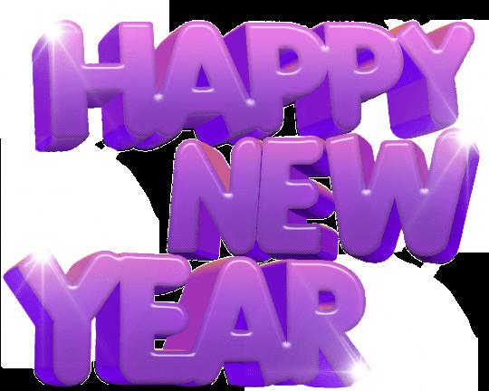 happy new year purple