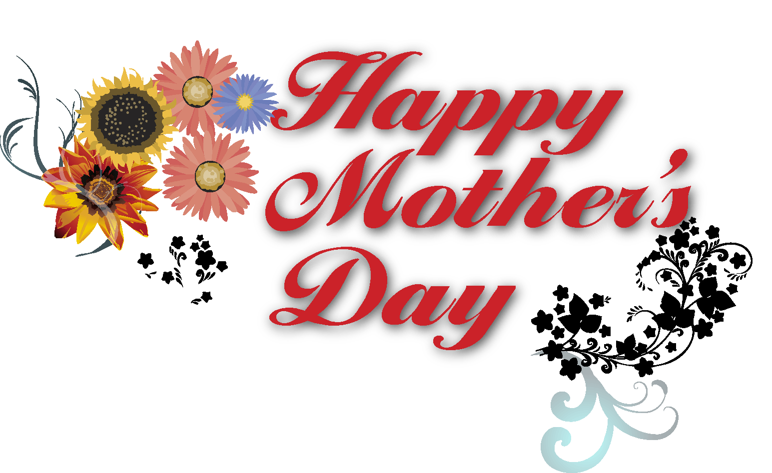 happy mothers day heart transparent png stickpng