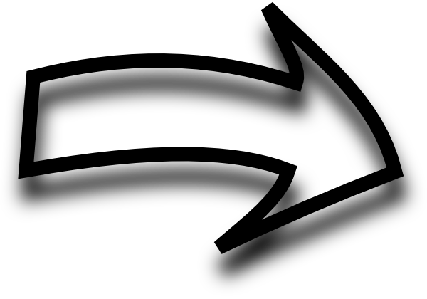 Arrow Black Shadow Bottom Right transparent PNG - StickPNG