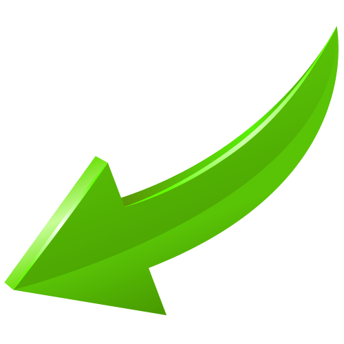 arrow green curve bottom left transparent png stickpng Telephone Icon Vector Telephone Icon Vector