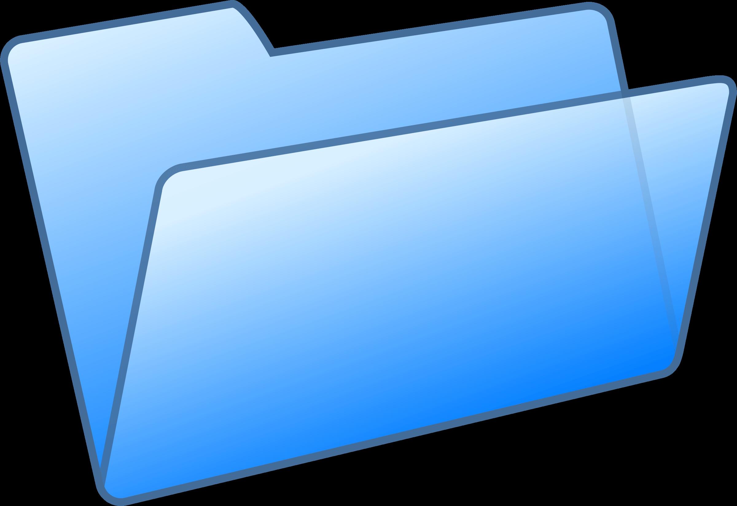 Blue Open Folder Dropbox Transparent Png Stickpng
