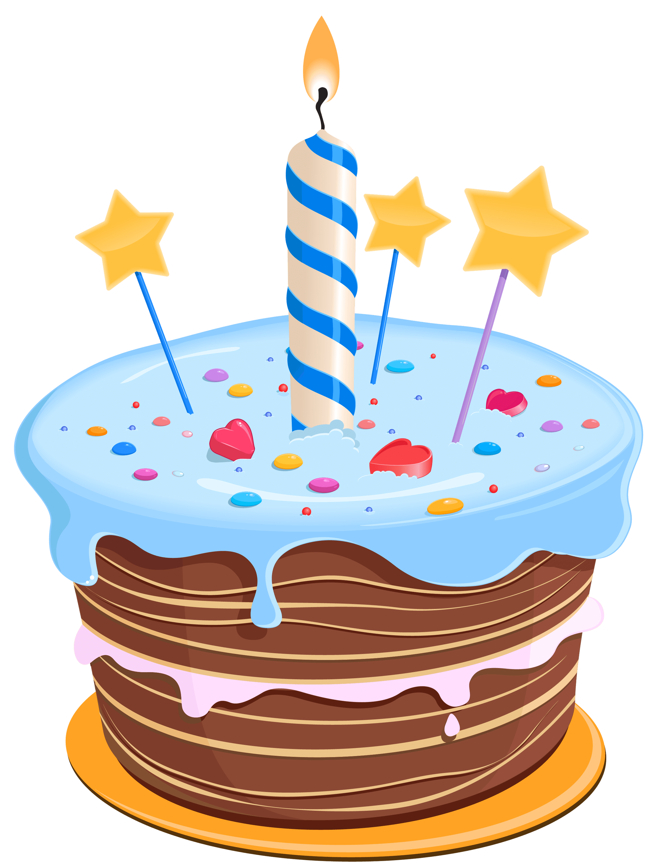 Birthday Cake Drawing Blue Transparent Png Stickpng