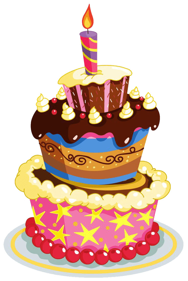 Birthday Cake Layers transparent PNG - StickPNG