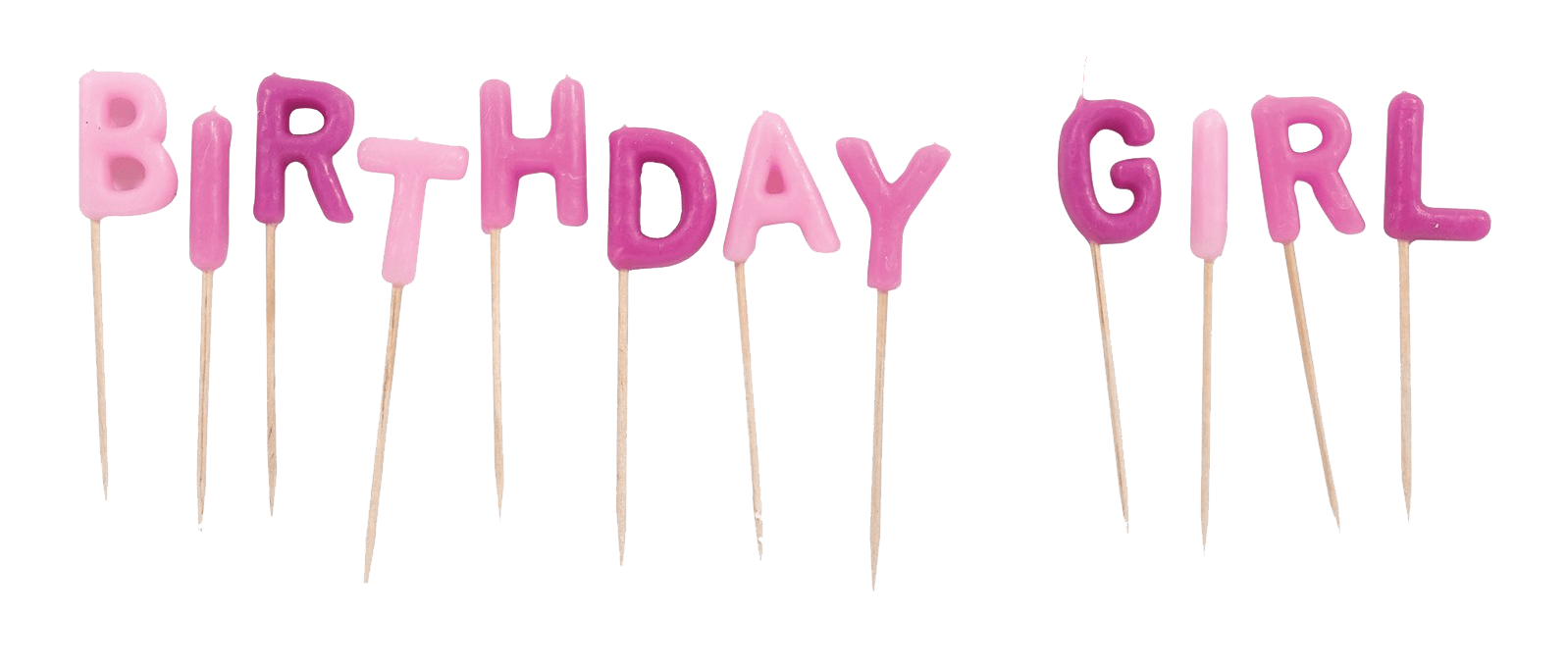 birthday girl candles transparent png stickpng