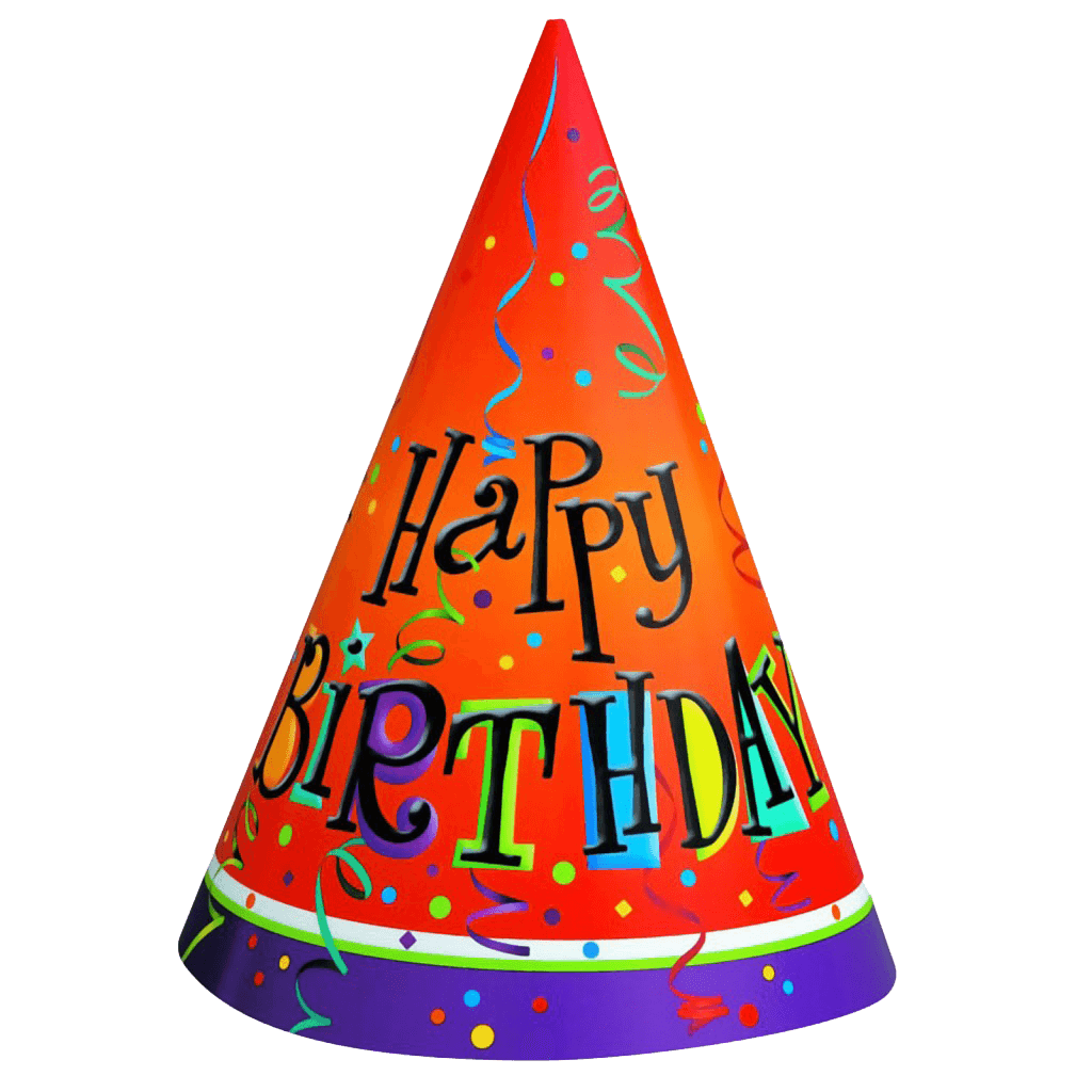 Birthday Hat Transparent Png Stickpng A party hat is generally a playful conical hat made with a rolled up piece of thin cardboard. stickpng